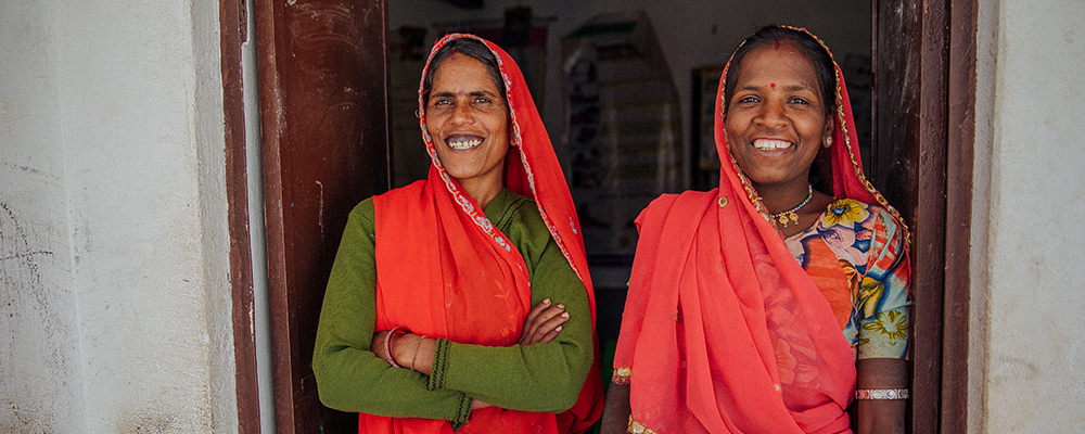 Local women in India