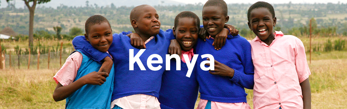 Local students laughing together in Kenya
