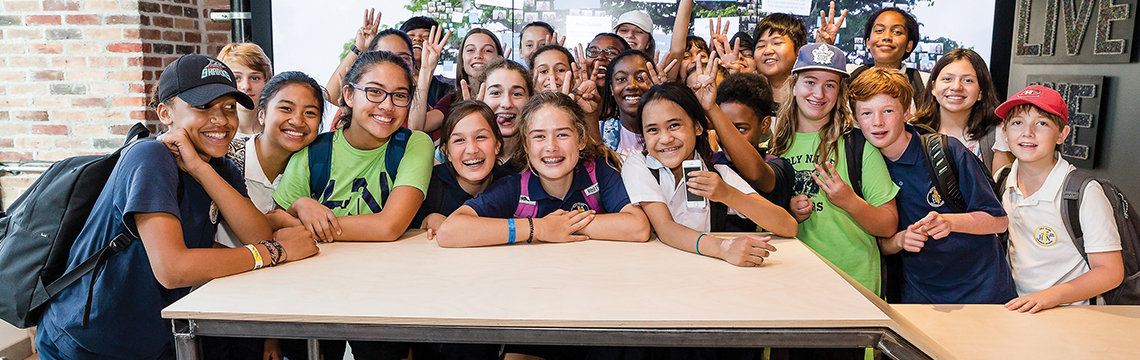 WE Schools students at the WE Global Learning Center
