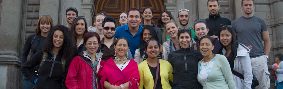 WE movement participants posing for picture