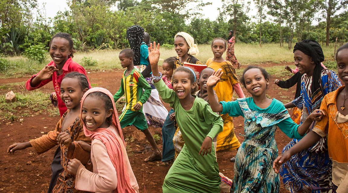 A group of girls in Ethiopia