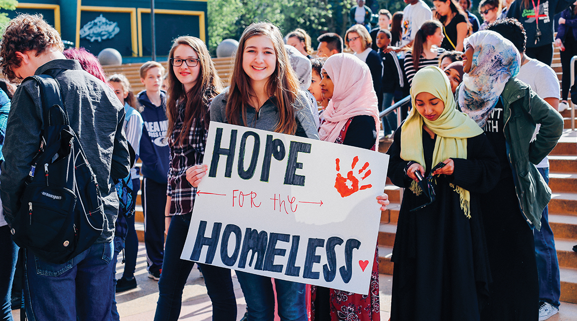 Young advocate for helping the homeless in Canada