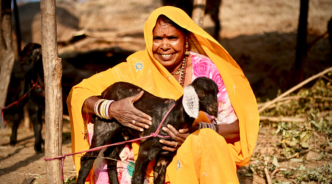 A woman and her goat