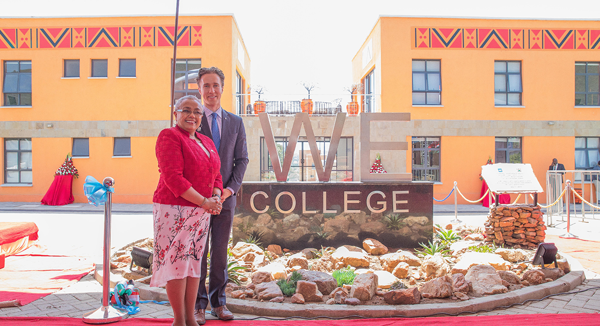 Craig Kielburger with the First Lady of Kenya at the opening of the WE College