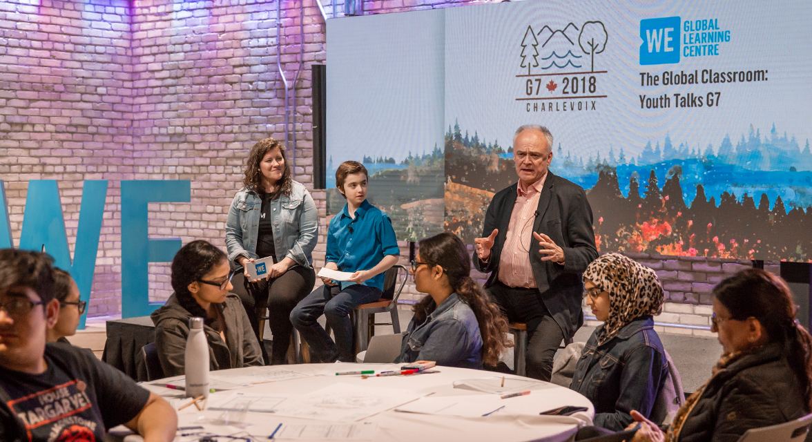 Students at the 2018 Global Classroom: Youth Talks G7