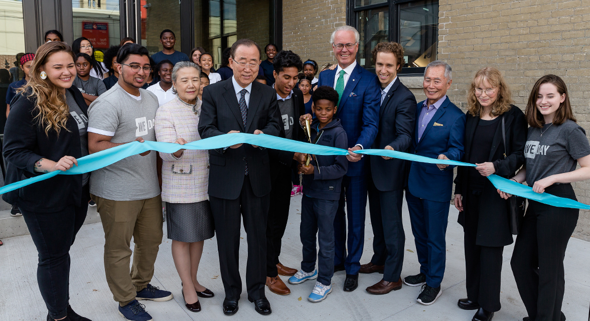Partners and honored guests at the opening of the WE Global Learning Centre