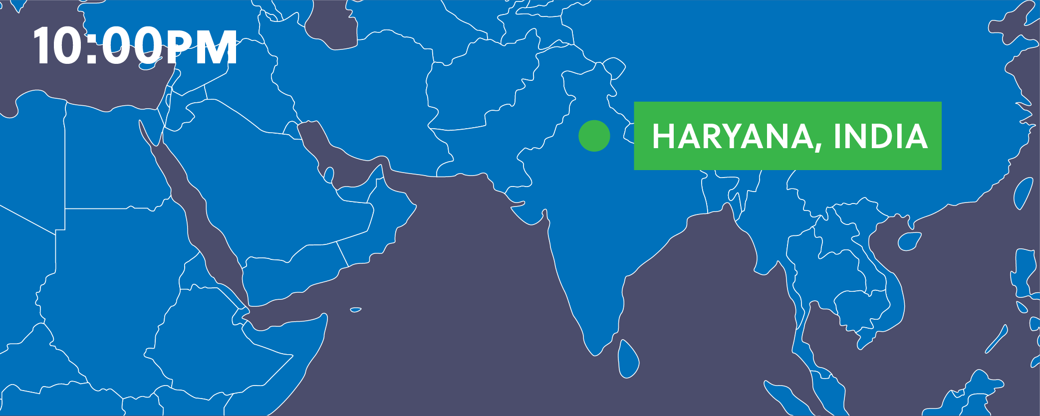 Map showing Haryana, India.