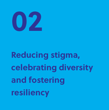 02 Reducing stigma, celebrating diversity and forecasting resiliency