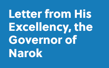 Letter from His Excellency, the Governor of Narok