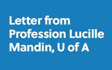 Letter from Professor Lucille Mandin, U of A