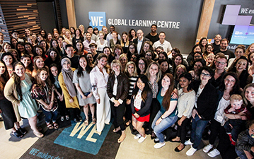 Sophie Grégoire Trudeau visiting WE employees at the WE Global Learning Center