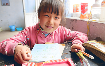 A student in China