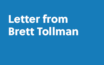 Letter from Brett Tollman