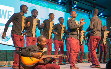 The Kenyan Boys Choir perform at a private event at the WE Global Learning Center
