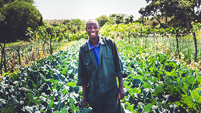 Local farmer from a WE Charity partner community