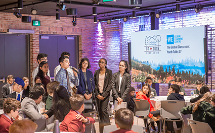 Students attend the 2018 Youth Talks G7 at the WE Global Learning Centre