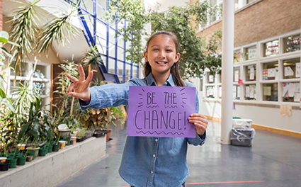 A young change-maker pledging to live WE