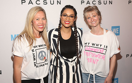 Brieane Olson, Lilly Singh and Roxanne Joyal attend Party with a Purpose