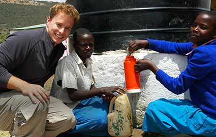 Marc at a water project in Kenya