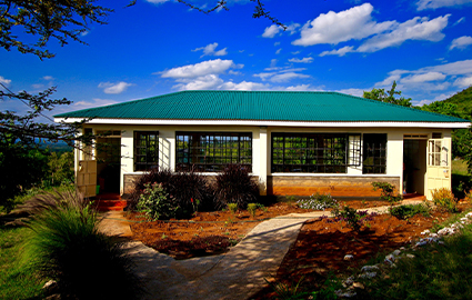 New schoolroom in a WE Villages partner community