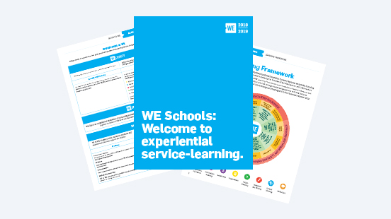 Pages from WE Schools Kit