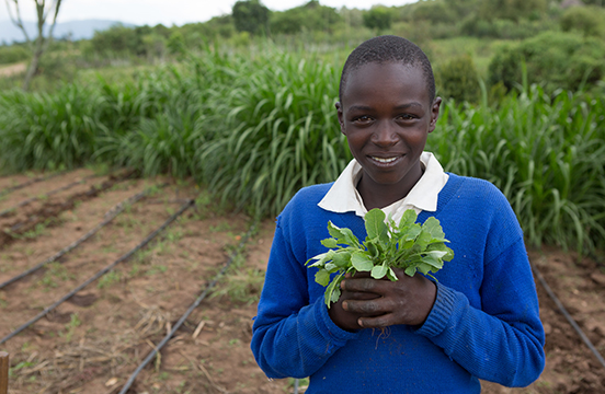 Local student at Oleleshwa Farm in Kenya