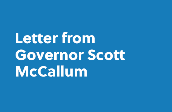 Letter form Governor Scott McCallum