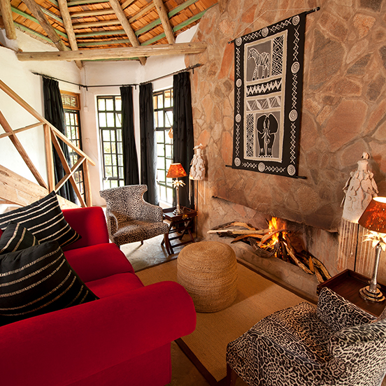 Luxurious interior of room at Bogani Tented Cottages and Camp