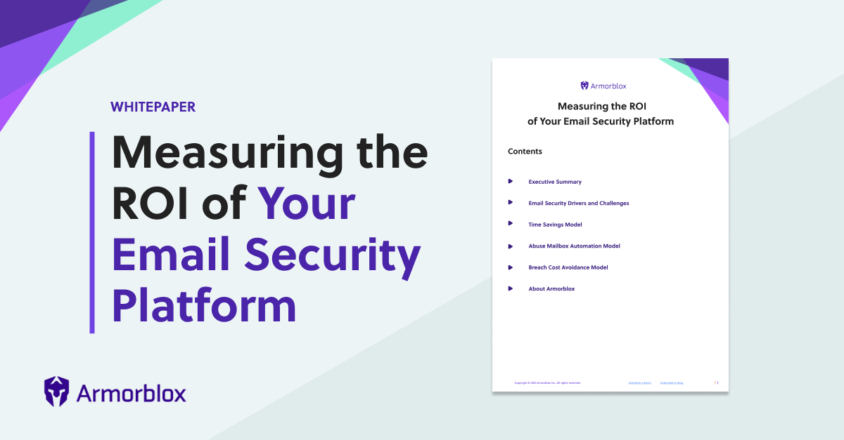 How to Measure Email Security ROI