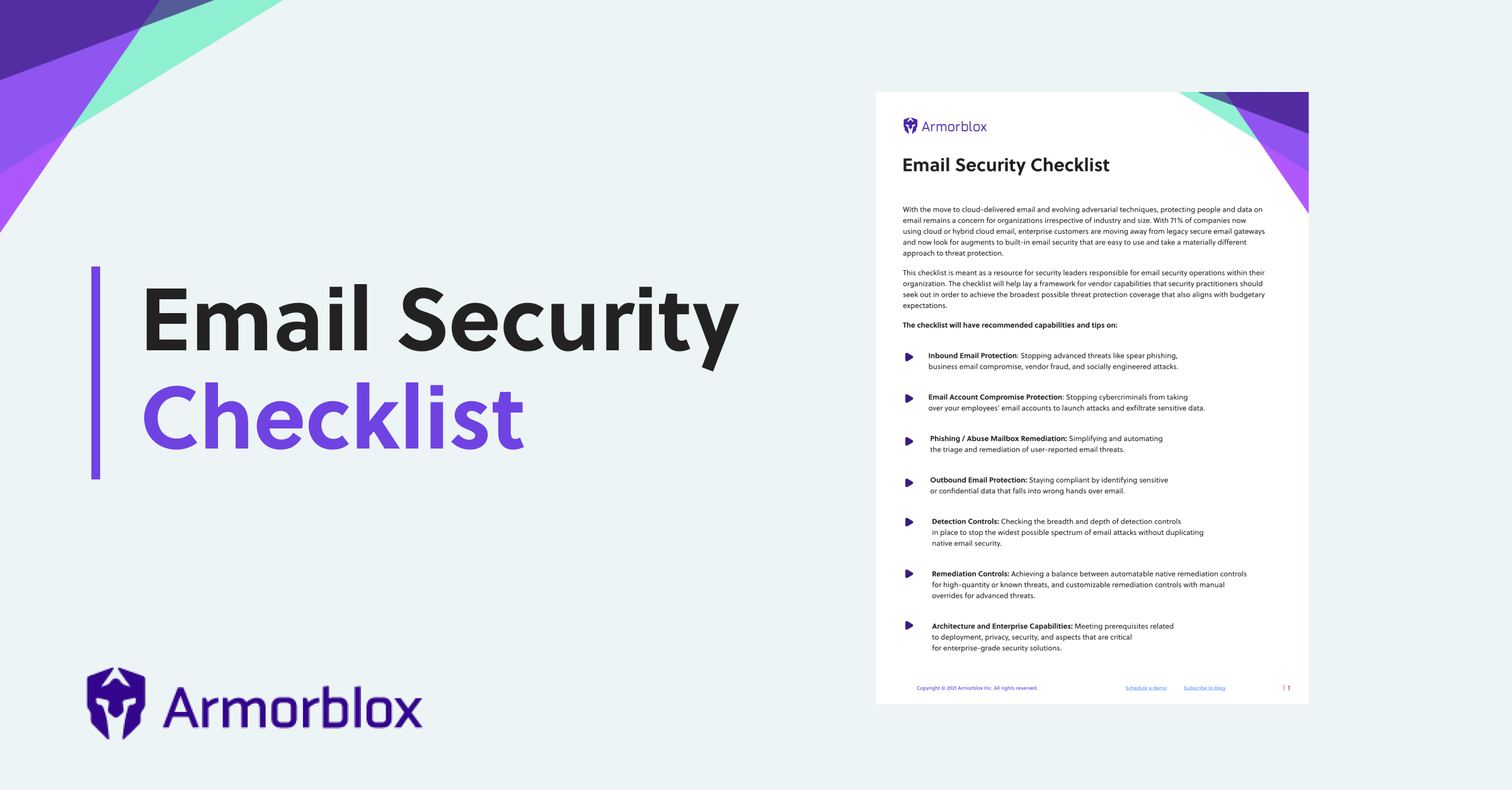 Email Security RFP Checklist