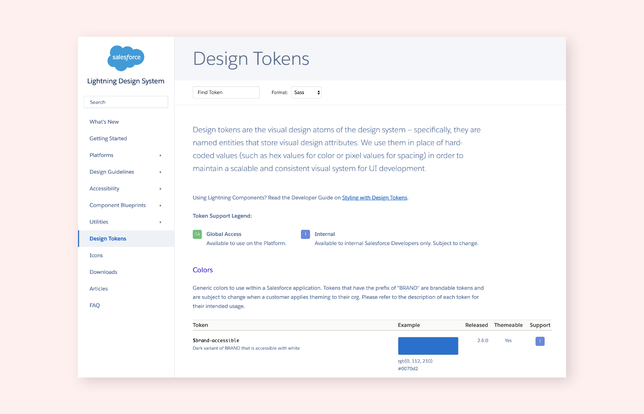 design tokens from Salesforce