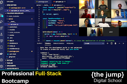 Coding bootcamp London, become a professional full-stack web developer