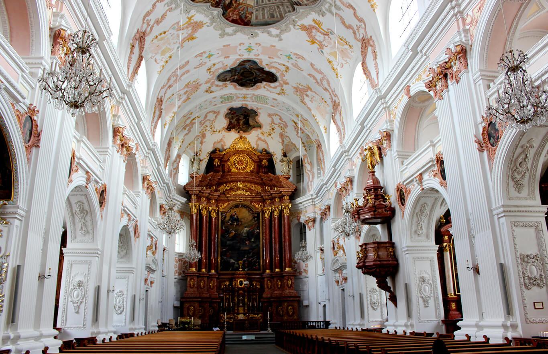 sanctuary of the jesuit church in lucerne
