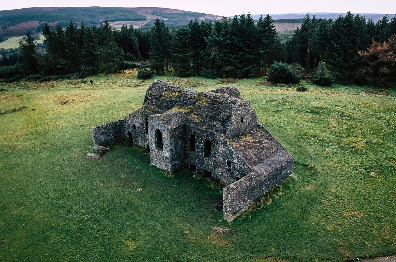 old stone building on the hellfire club tour