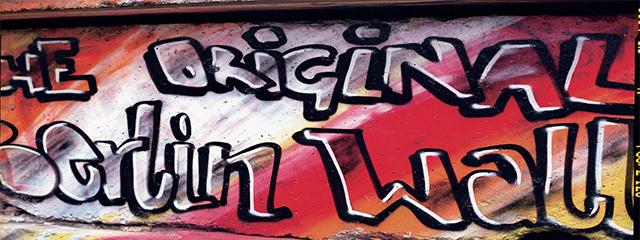 graffiti on a wall in berlin
