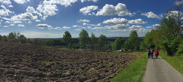 Landscape at goat cheese farm in the Dordogne Valley, France