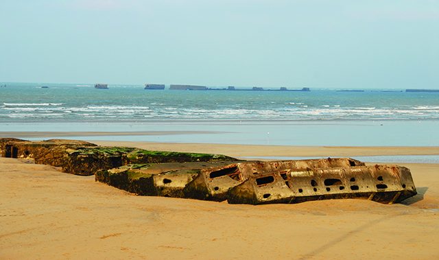 remains on the coast at mulberry harbor
