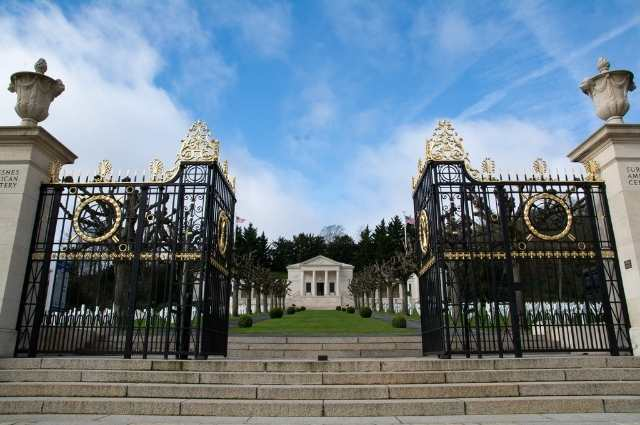 golden gates at the american cemetery in luxembourg