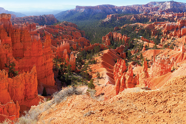 red canyons in bryce canyon national park