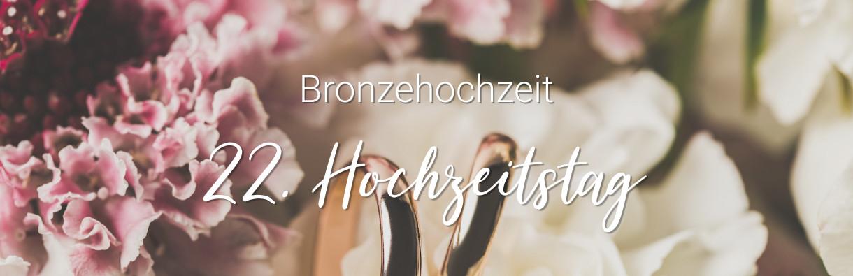 22 Hochzeitstag Bronzehochzeit Bedeutung Geschenkideen