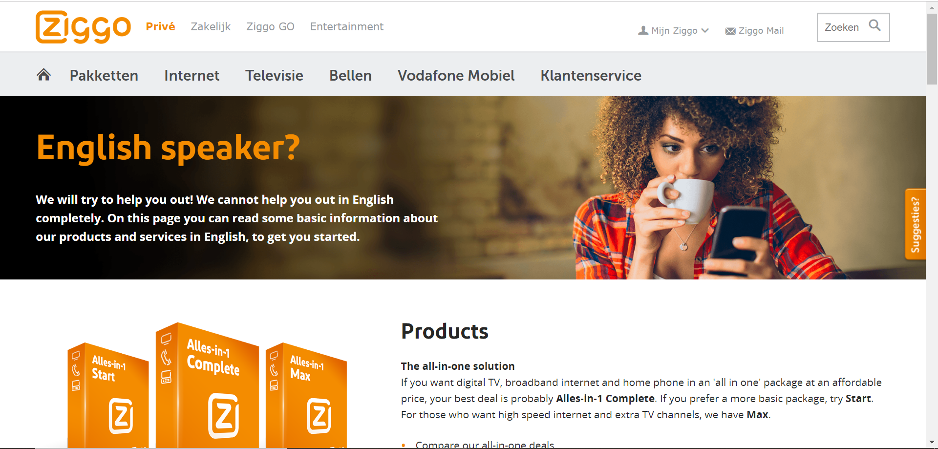 english ziggo page