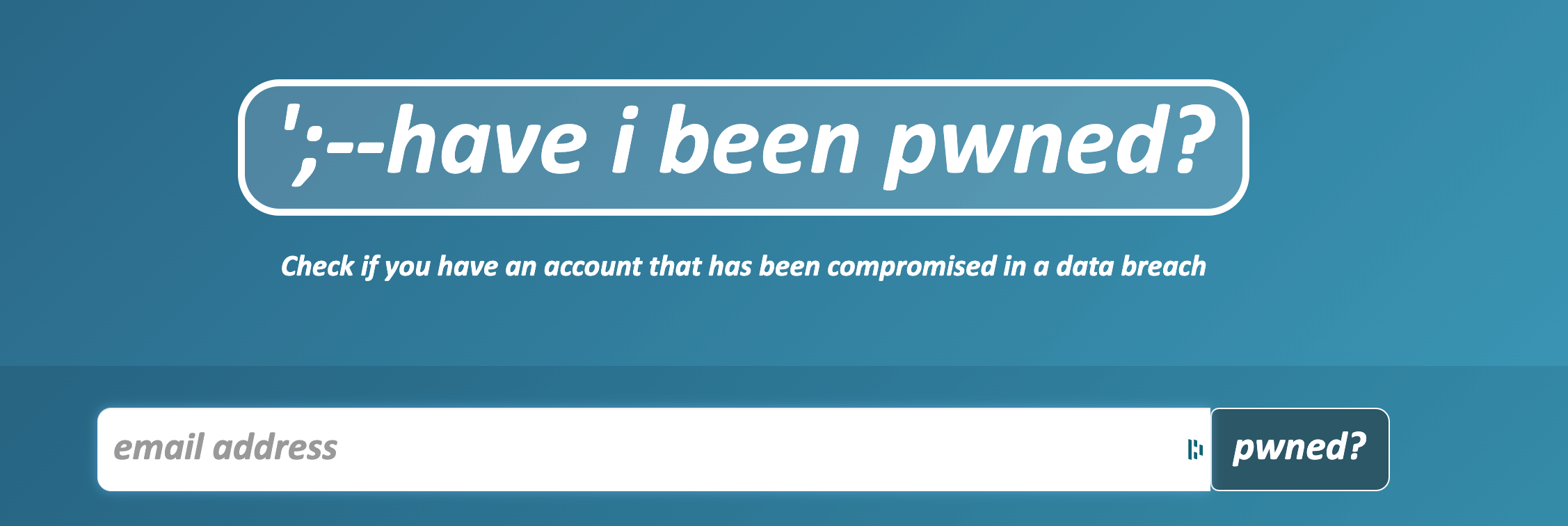 have I been pwned website homepage