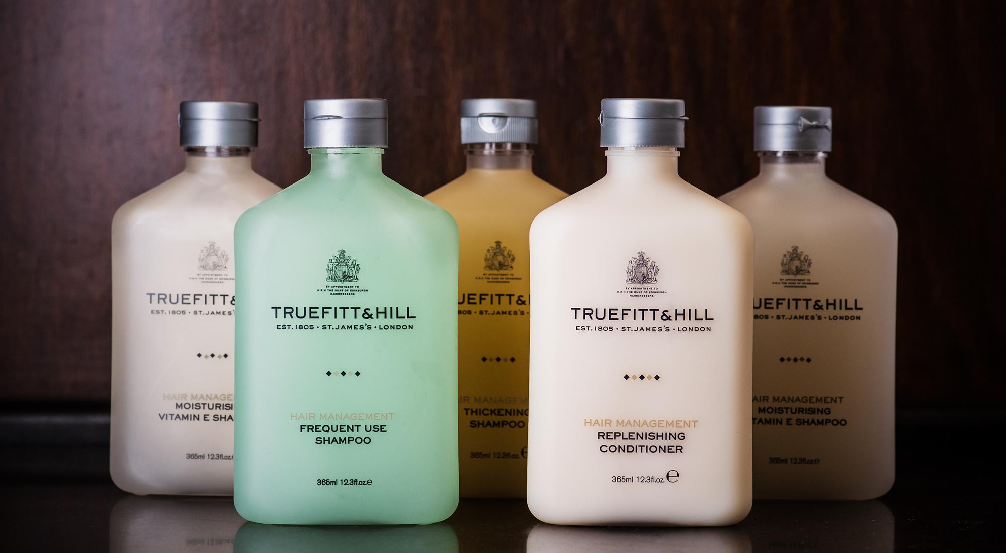 Save on Truefitt & Hill's luxury range of shampoo and conditioner