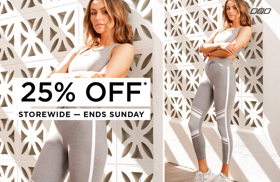 25% off all full priced styles at Lorna Jane