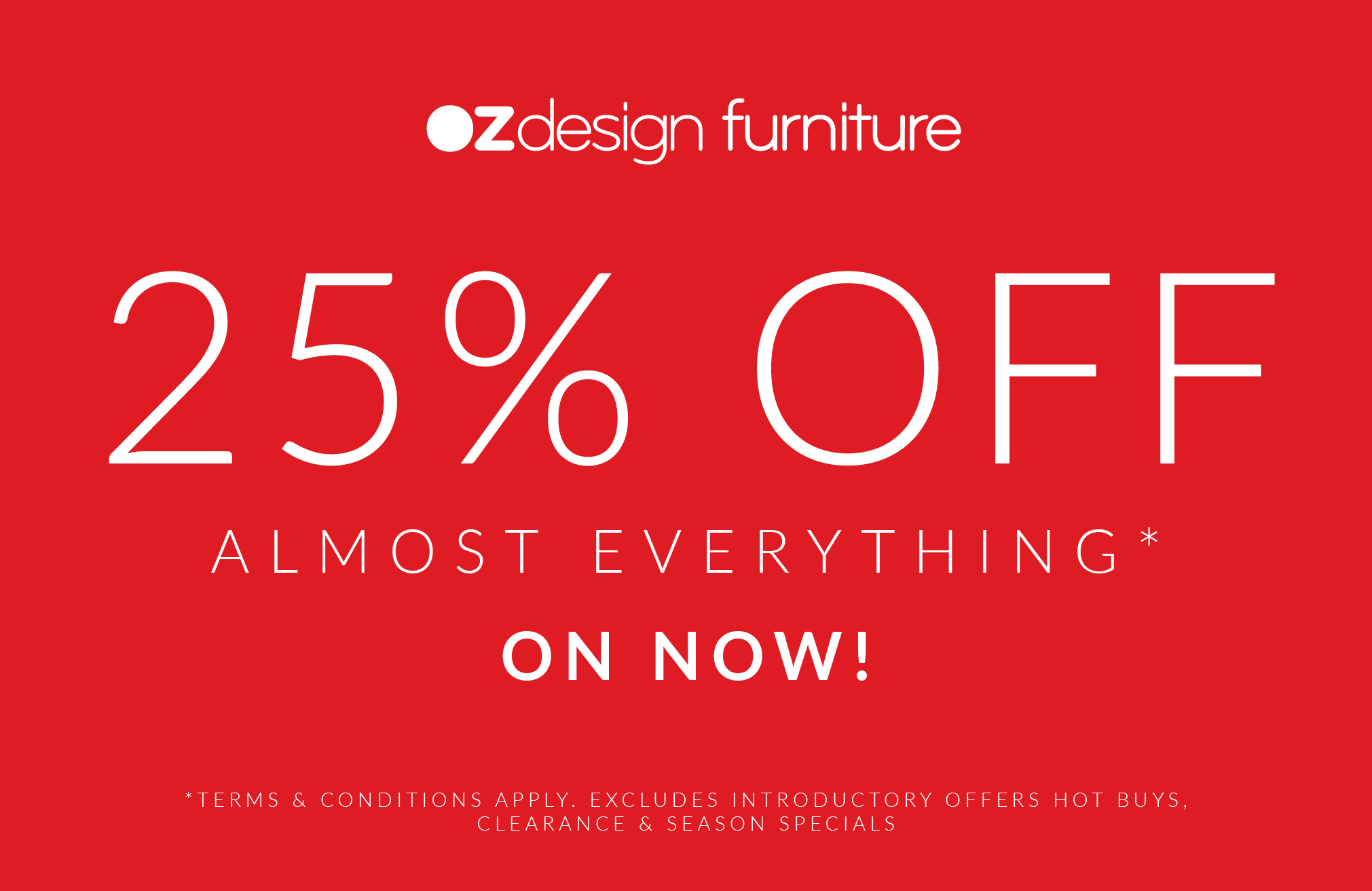 Oz Design Furniture Sale