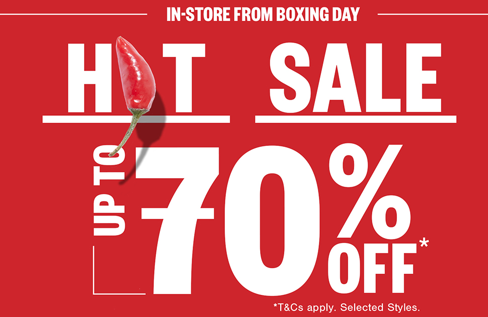 Johnny Bigg's Boxing Day Sale