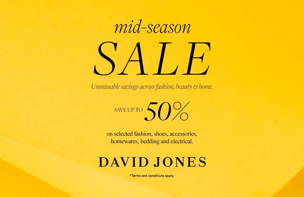 David Jones' Mid-Season Sale