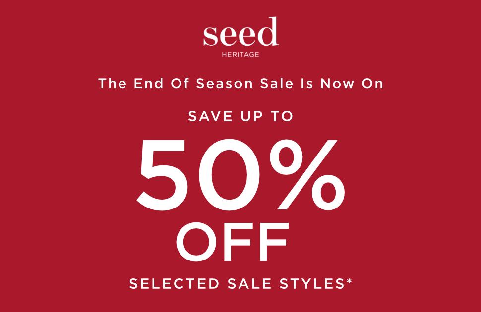 Seed End of Season Sale