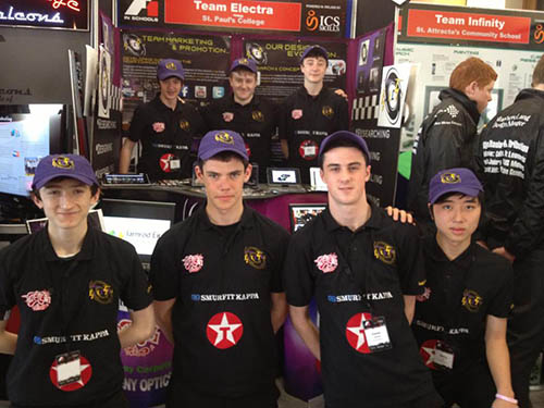Team of St. Pauls College Design Fastest Car at F1 in Schools National Finals