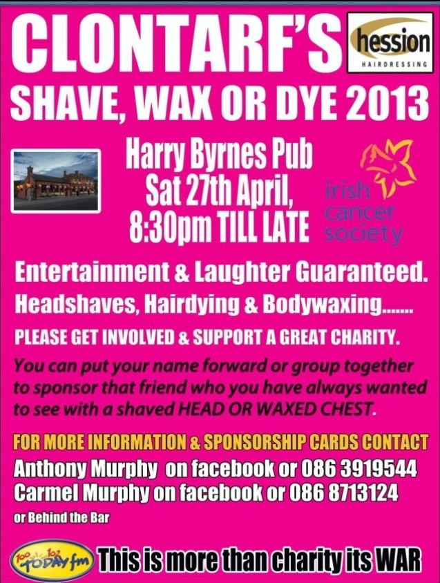 Clontarf's Shave, Wax or Dye Update